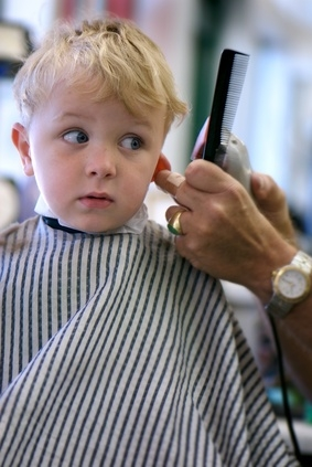 child haircut